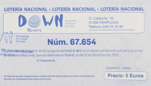 Lotería de Navidad 2020 de nuestra asociación.
